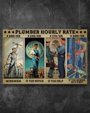 plumber hourly rate pt lqt ngt 17x11 Poster aos-poster-landscape-17x11-lifestyle-12