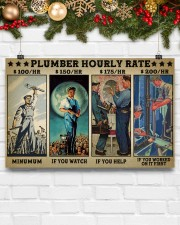 plumber hourly rate pt lqt ngt 17x11 Poster aos-poster-landscape-17x11-lifestyle-28