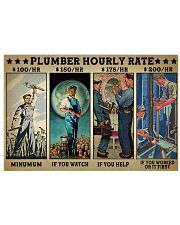 plumber hourly rate pt lqt ngt 17x11 Poster front