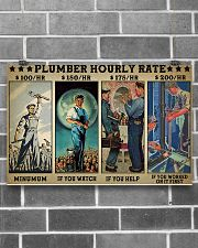 plumber hourly rate pt lqt ngt 17x11 Poster poster-landscape-17x11-lifestyle-18