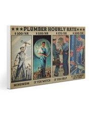 plumber hourly rate pt lqt ngt 30x20 Gallery Wrapped Canvas Prints thumbnail