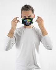 elephant colorful mandala mas Cloth Face Mask - 3 Pack aos-face-mask-lifestyle-08