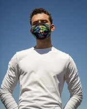 elephant colorful mandala mas Cloth Face Mask - 3 Pack aos-face-mask-lifestyle-11