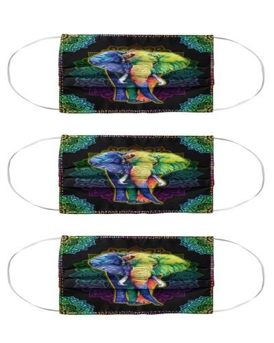 elephant colorful mandala mas