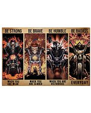 skeleton biker be strong brave humble pt mttn dqh 24x16 Poster front
