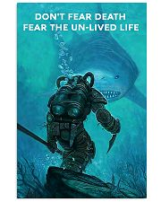 scuba diving fear the unlived life 16x24 Poster front