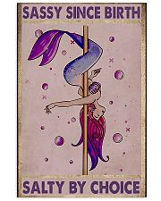 pole dance mermaid by birth poster 11x17 Poster front