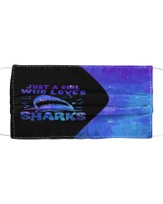 Just a girl who loves sharks neon mas Cloth face mask front