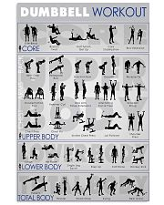 Gym Dumbbell workout 24x36 Poster front