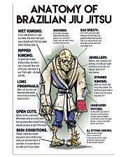 jiu jitsu anatomy pt lqt nna 24x36 Poster front