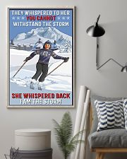 skiing i am a storm 11x17 Poster lifestyle-poster-1