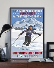 skiing i am a storm 11x17 Poster lifestyle-poster-2