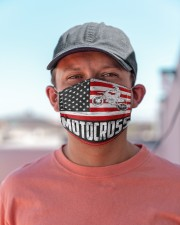 Motocross us flag mas Cloth Face Mask - 3 Pack aos-face-mask-lifestyle-06