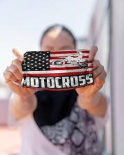 Motocross us flag mas Cloth Face Mask - 3 Pack aos-face-mask-lifestyle-07