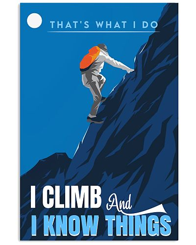 Climbing That's what I do Poster