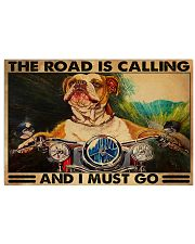 pitbull motorcycle the road is calling pt mttn ngt 24x16 Poster front