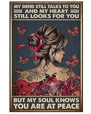 butterfly girl peace poster 11x17 Poster front