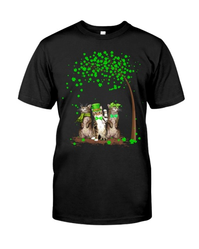 3 cats shamrock tree