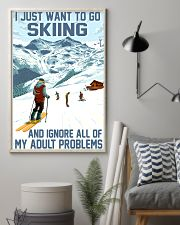 skiing ignore all problems 11x17 Poster lifestyle-poster-1