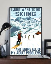 skiing ignore all problems 11x17 Poster lifestyle-poster-2