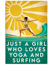 surfing and yoga 11x17 Poster front
