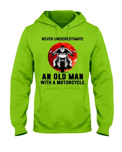 never underestimate old man motorcycle