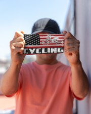 cycling us flag mas Cloth Face Mask - 3 Pack aos-face-mask-lifestyle-05
