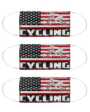 cycling us flag mas Cloth Face Mask - 3 Pack front