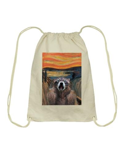 raccoon the scream tshirt