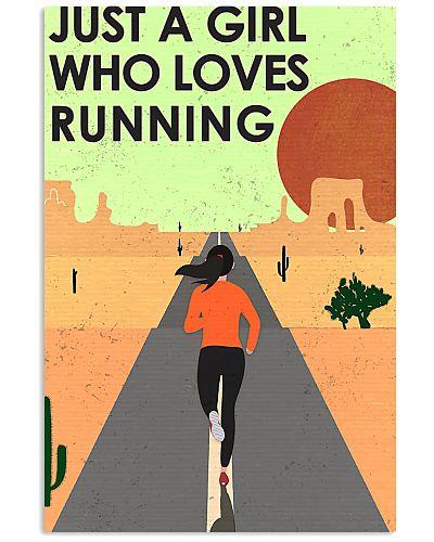 running just a girl poster