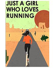 running just a girl poster 16x24 Poster front