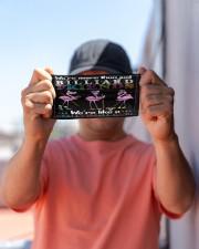 Flamingo Friends Billiards Gang mas Cloth Face Mask - 3 Pack aos-face-mask-lifestyle-05