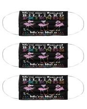 Flamingo Friends Billiards Gang mas Cloth Face Mask - 3 Pack front