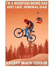 mountain biker dad cooler 11x17 Poster front