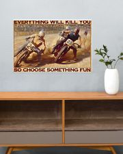 dirt bike racing choose something fun pt phq ntv 24x16 Poster poster-landscape-24x16-lifestyle-25