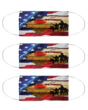 american veteran remembrance mas Cloth Face Mask - 3 Pack front
