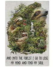 sloth forest I go 11x17 Poster front