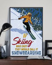 skiing not easy 11x17 Poster lifestyle-poster-2