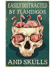flamingo skull 11x17 Poster front