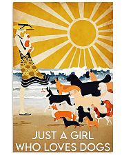 dog just a girl summer poster 24x36 Poster front