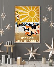 dog just a girl summer poster 24x36 Poster lifestyle-holiday-poster-1