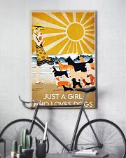 dog just a girl summer poster 24x36 Poster lifestyle-poster-7