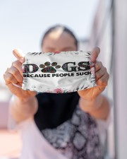 Dogs Because People Suck mas Cloth Face Mask - 3 Pack aos-face-mask-lifestyle-07