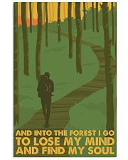 hiking into the forest 11x17 Poster front
