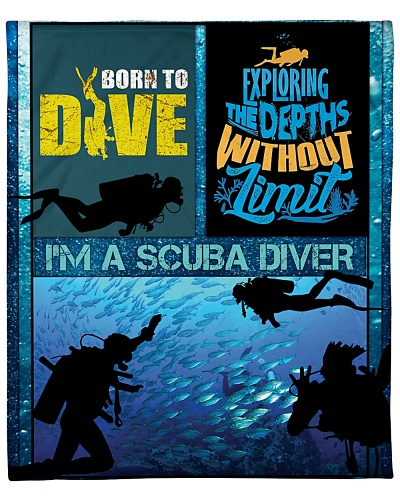 born to dive blanket