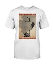 ski jumping over car choose st fun pt mttn-dqh Classic T-Shirt thumbnail