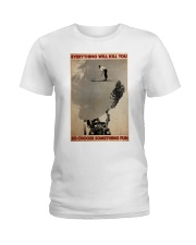 ski jumping over car choose st fun pt mttn-dqh Ladies T-Shirt thumbnail