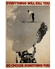 ski jumping over car choose st fun pt mttn-dqh 11x17 Poster front