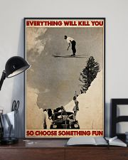 ski jumping over car choose st fun pt mttn-dqh 11x17 Poster lifestyle-poster-2