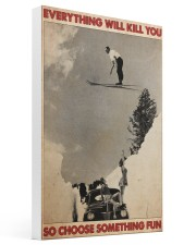 ski jumping over car choose st fun pt mttn-dqh 16x24 Gallery Wrapped Canvas Prints thumbnail